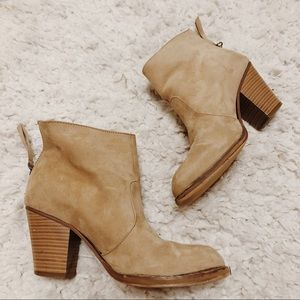 Just fab taupe bootie